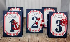 Boat  Nautical  Table Number  Place Card  by PaperletteDesigns