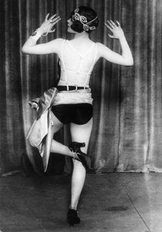 "Dancer Jean Rai doing the ""Black Bottom Blues"" c.1925"