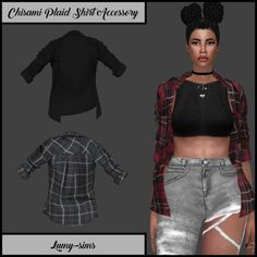 Chisami Plaid Shirt Accessory - Lumy-sims