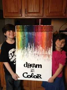 crayon art with cricut vinyl.  font is from the wall decor and more cart