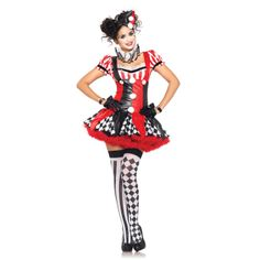 Find sexy Halloween costumes for women, men, and plus-size right here! Shop our selection for the best sexy Halloween costume ideas around! A revealing, sexy costume is sure to make your Halloween or cosplay event a memorable one. Clown Halloween Costumes, Circus Costume, Mardi Gras Costumes, Halloween Masquerade, Adult Costumes, Costumes For Women, Cosplay Costumes, Circus Clown, Adult Halloween