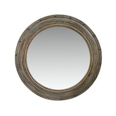 Shop for Benzara Urban Port Round Mirror with Grey Wooden Frame. Get free shipping at Overstock.com - Your Online Home Decor Outlet Store! Get 5% in rewards with Club O!