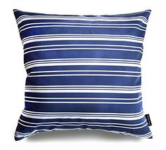Phantoscope Ocean Series Cotton Decorative Throw Pillow Case Cushion Cover Blue Stripe 16 *** Learn more by visiting the image link. Living Room Decor Pillows, Couch Pillows, Rustic Decorative Pillows, Blue Cushions, Hacks, Blue Bedding, Floral, Pink, Cushion Covers