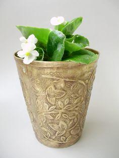 Vintage   brass planter ,Modern Midcentury Home Decor,housewarming gift,gift for her
