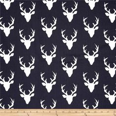 Art Gallery Hello Bear Buck Forest Twilight from @fabricdotcom  Designed by Bonnie Christine for Art Gallery Fabrics, this cotton print fabric allows you to folic in the woods with bucks. Perfect for quilting, apparel and home decor accents. Colors include navy and white.