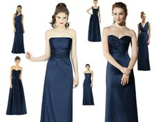 Midnight or Navy Blue Dress thoughts : PANTONE WEDDING Styleboard : The Dessy Group