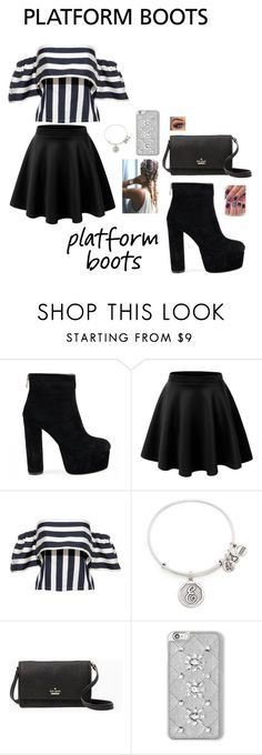 """""""Kickin' It: Platform Boots"""" by ninjakitty3k on Polyvore featuring Alex and Ani, Kate Spade, MICHAEL Michael Kors and Incoco"""