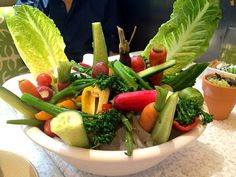 True Food Kitchen Crudite true food kitchen- vegetable crudites with tzatziki dip- gluten