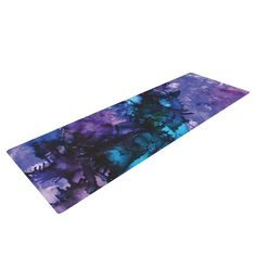 """Claire Day """"Soul Searching"""" Purple Blue Yoga Mat"""