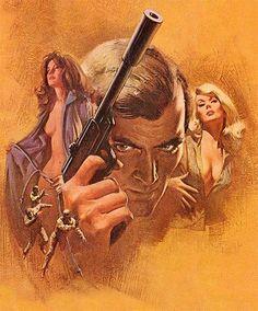 Doctor No - Ian Fleming /   Bantam, July 1971 - art by Frank McCarthy