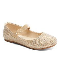 9d14ff8fa Sandalias y zapatos de niñas · Loving this Gold Poem Flat - Girls on   zulily!  zulilyfinds Catalogo De Calzados
