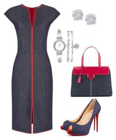 Red Denim Dress Ideas You Must Have, here in this article is to inspire you and the denim lovers. Keep reading and pick the fashion that suitable for you. Stylish Work Outfits, Classy Outfits, Chic Outfits, Jw Mode, Work Fashion, Fashion Looks, Complete Outfits, Work Attire, Outfit Work