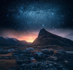 Burning Dawn by Lauri Lohi at Lofoten in Norway Follow @travelgurus for the best Tumblr Images