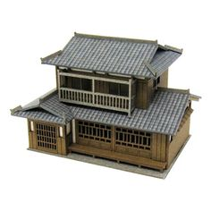 Japanese house z scale - The Greenleaf Miniature Community China Architecture, Architecture Concept Drawings, Unique Architecture, Japanese Style House, Traditional Japanese House, Medieval Houses, Samurai, Miniature Houses, House Design