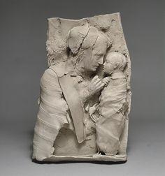 """Georges Jeanclos French Sculptor (1933-1997) """"La Vierge et l'enfant"""" Ceramics Now - Contemporary ceramics magazine"""