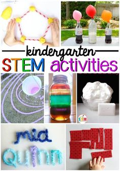Awesome kindergarten STEM activities! Fun ideas for STEM centers and STEM boxes. #artsandcraftsforpre-schoolers,