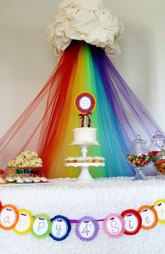 Rainbow Party: GlamLuxePartyDecor: FREE SHIPPING! Creative, Unique, Personalized Glamorous Designer Party Decorations and keepsakes. Theme party Decor packages. 1st Birthday parties, pink princess tutu, weddings, christenings, holiday celebration, bridal shower, babyshower, bachelorette, Super Bowl, etc. #jacquelineK