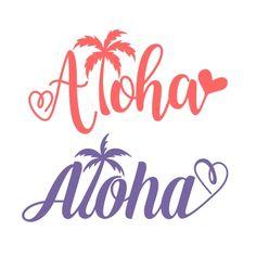 Aloha Palm Tree SVG Cuttable Design