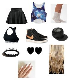 """""""Untitled #52"""" by montrosecheer on Polyvore featuring Daytrip, NIKE, Shamballa Jewels and Dollydagger"""