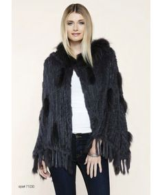DOLCE CABO Natural Fur Poncho
