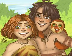 Eep and Guy. The Croods by CatMoore.deviantart.com on @DeviantArt