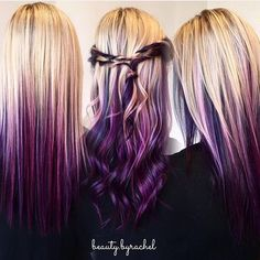 We can't get enough of this blonde to purple melt by @beauty.byrachel