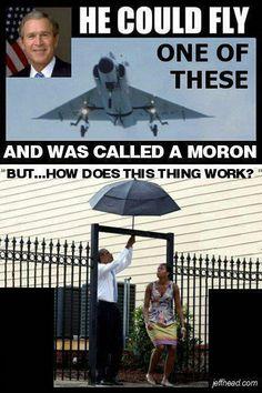 President Bush v. President Obama