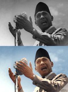"""""""Pres RI Ir. Soekarno Berpidato""""  Source: -"""