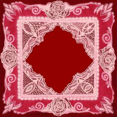 """Hand-drawn """"Roses Are Red"""" Lace Frame (copy-righted)"""