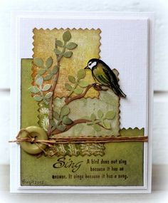 F4A123 The Bird sings by Biggan - Cards and Paper Crafts at Splitcoaststampers