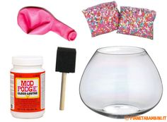 DIY confetti and mod podge bowl. I'd do it with neutral color confetti instead Diy Confetti, Confetti Balloons, Cool Art Projects, Diy Craft Projects, Craft Ideas, Diy Ideas, Preschool Projects, Group Projects, Cute Crafts