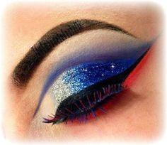 10 Patriotic Smokey Eye Makeup Tutorials fashion makeup patriotic eye makeup…