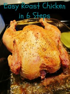 Easy roast chicken recipe, only 6 steps