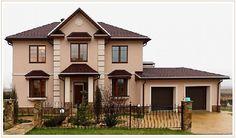 фасады домов с красной крышей декоративная отделка - Пошук Google