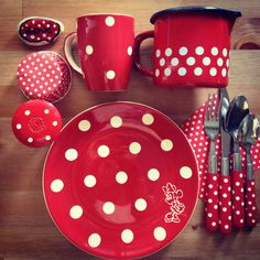 Polka dots love stunning in red & White