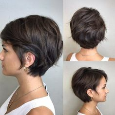 Cute Textured Brunette Pixie-Bob Bob Hairstyles with layers 70 Cute and Easy-To-Style Short Layered Hairstyles Bob Haircuts For Women, Best Short Haircuts, Short Hairstyles For Women, Long Hairstyles, Straight Hairstyles, Layered Hairstyles, Wedding Hairstyles, Haircut Short, Ladies Hairstyles