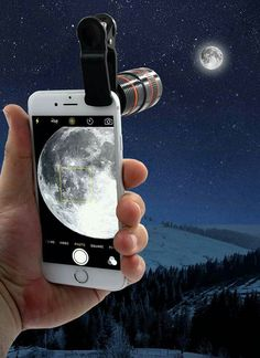 Turn your smartphone into a DSLR-quality camera. Purchase our iPhone & Android HD Zoom Lens and turn your phone into a DSLR-quality camera. Phone Lens, Camera Lens, Big Camera, Nikon Cameras, Zoom Hd, Professional Camera, Professional Image, Dslr Photography Tips, Accessoires Iphone