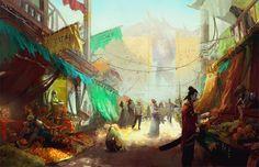 The City of Salt in Wounds: Bazaar by jeffchendesigns.deviantart.com on @DeviantArt