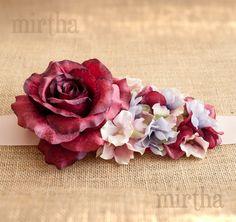 Cinturón de flores Rubí