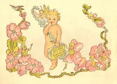 Antique Images: Vintage Baby Graphic: 1915 Baby Clip Art with Fair...