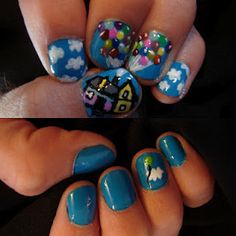 Nails inspired by Up!