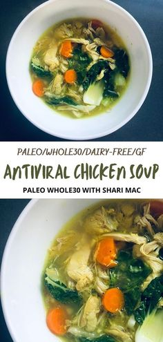 I tolerated the cold long enough! Decided to fight the virus with good ol' chicken soup. But I loaded with PALEO WHOLE30 baby with antiviral ingredients to boost my immunity and fight the cold. I share this tasty, virus fighting soup with you. I hope you enjoy it. #paleo,#paleorecipes,#Whole30, #Whole30recipes,#antiinflammatorydiet, #antiinflammatoryrecipes, #dairyfree, dairyfreerecipes,