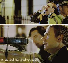 Rules of the Sherlock Fandom. #90. You don't talk about Sherlock.