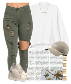 """""""Early Spring, yay! """" by livelifefreelyy ❤ liked on Polyvore featuring Monki, adidas, NIKE, ZoÃ« Chicco, Maison Margiela, Lana, women's clothing, women, female and woman"""