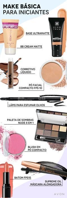 Lista de maquiagem para iniciantes: 8 produtinhos indispensáveis  #base #batom #blush #maquiagembásica #maquiagemparainiciantes