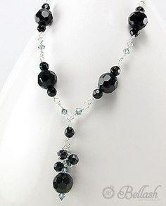 52755208 Collar de Vidrio Cristal, Plata 925, (En oferta)