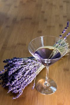 Lavender Martini - Here, soothing lavender is used to make a drink that is as beautiful as it is relaxing. Recipe by The Framed Table. 1 oz. crème de violette 1 oz. gin 1 oz. vodka 1/4 oz. Domaine de Canton 1/4 oz. St. Germaine elderflower liqueur 1 dash Scrappy's Lavender Bitters Lavender Place all liquids into a cocktail shaker with ice. Shake well for 30 seconds and pour into a martini glass. Garnish with lavender sprigs.