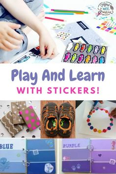 Use stickers as a teaching tool! These fun sticker ideas teach a variety of skills and are super fun to use! Kids love stickers - why not use them to teach?