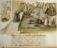 This day in history Mary queen of scotts is executed. After 19 years of imprisonment, Mary Queen of Scots is beheaded at Fotheringhay Castle in England for her complicity in a plot to murder Queen Elizabeth I.    In 1542, while just six days old, Mary ascended to the Scottish throne upon the death of her father, King James V. Her mother sent her to be raised in the French court, and in 1558 she married the French dauphin, who became King Francis II of France in 1559 but died the following ye...