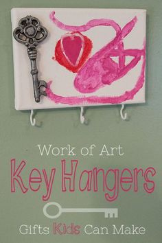 Work of Art Key Hangers: DIY Christmas Gifts
